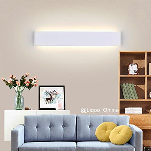 Liqoo 20W LED Wandlampe Wandleuchte Badlampe Warmweiß Wasserdicht Ersetzt 75W AC 85V-265V inkl. Trafo IP44 3000K 1072 Lumen Glühlampe elegantes Design leicht Montage Abstrahlwinkel 120° 61cm