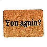"""ممسحة ارجل للمدخل بعبارة """"You Again""""، للاستخدام الداخلي والخارجي وللباب امامي والحمام، ممسحة مطاطية"""