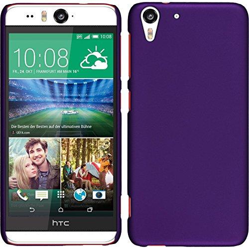 PhoneNatic Case für HTC Desire Eye Hülle lila gummiert Hard-case für Desire Eye + 2 Schutzfolien