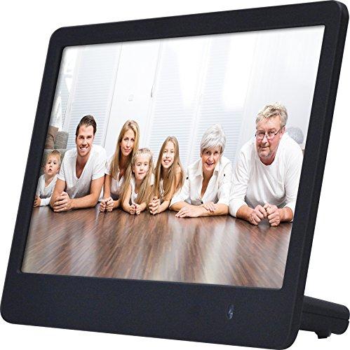 Rollei Pissarro DPF-82 - Digitaler Multi-Media Bilderrahmen mit 8.0 Zoll (20,3 cm) TFT-HD Panel, Uhrzeitanzeige, Kalenderfunktion, Diashow und Dreh-Funktion, inkl. Fernbedienung - Schwarz