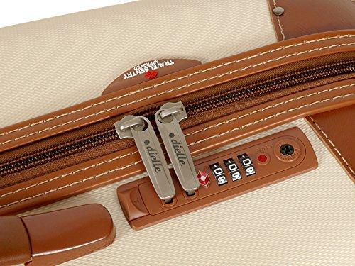 Reisekoffer Dielle 155 Koffer 68x46x26 cm (braun) Ecru