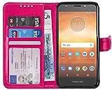 Gadget Giant Wallet Case for Motorola Moto E5 Play PU