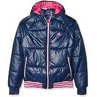 Adidas Yg Pad Jkt - Chaqueta para niños de 9-10 años, Color Azul/Rosa