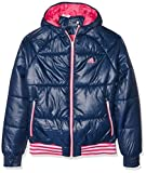 adidas Mädchen Padded Jacke, Collegiate Navy/Bahia Pink S14, 152