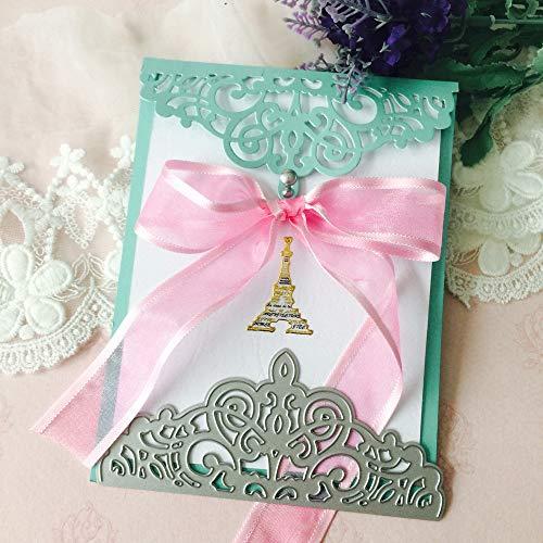 VICKY-HOHO Neue Blume Herz Metall schneiden stirbt Schablonen DIY Scrapbooking Album Papierkarte (Blume Schönheit Blush)