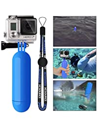 XCSOURCE® Poignée Grip flottant Bouchon Bâton Pôle Manfrotto plongée + Vis + Wrist Strap accessoire de courroie de poignet pour GoPro Hero 1 2 3 3+ 4 blue OS98