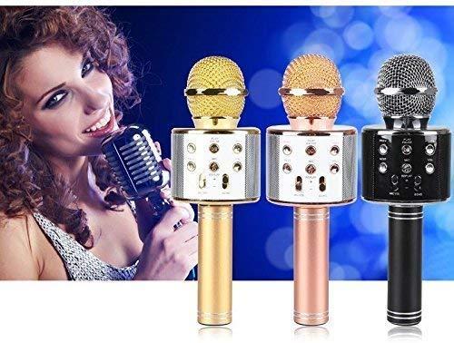 SHOPPOSTREET Handheld Bluetooth Wireless Bluetooth Microphone HIFI Speaker (Multicolor)