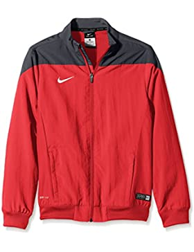 Nike YTH Squad14 SDLN Wvn JKT Camiseta de Manga Larga de Fútbol, Niños, Rojo / Negro / Blanco, S