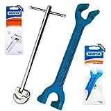 Draper 10876-68733 lavabo y llave ajustable para herramientas juego de llaves