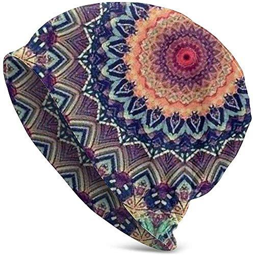 Adulto de Punto Beanie Tie Die Floral Mandala Valentine Funny Upgrade Hip Hop Jerseys para Adultos Warm Knit Ski Skull Cap Beanie Cap para Hombres Mujeres