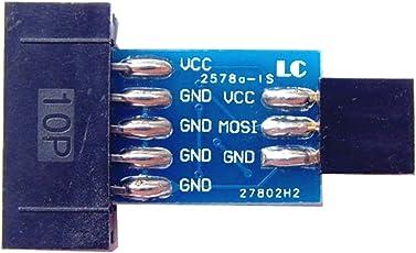 perfk 10 bis 6 Pin Adapter für AVRISP USBASP STK500 Logikanalysator Programmer