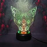 3D LED Luce Notturna Luce Notturna Giocattolo coccolone Amici Regalo di Compleanno Adatto per Soggiorno in Camera da Letto Il miglior Regalo per Un Amico