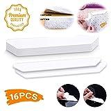 KOBWA Antirutschmatte für Teppich, Antirutsch Pads Teppich 16 wiederverwendbaren Anti-Rutsch-Ecken für Verschiedene Böden und Teppich-Pads