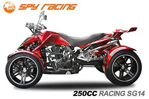 """Preisvergleich Produktbild Spy 250cc Racing Quad14"""" 2 Pers. Autobahn Zulassung 4-Gang Manuell + Rückwärtsgang Quad Atv Racing (Weinrot mit Schwarz Matten Akzenten)"""