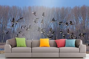 Roshni Arts® - Curated Art Wall Mural - Nature Series - 819 | Self-Adhesive Vinyl Furnishings Décor Wall Art - 96x72 Inch