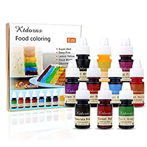 Food Colouring Food dye Flo Concentrated Liquid Food Air Brush - 10 Colours (6ml) 1