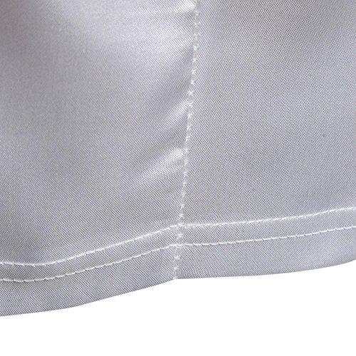 Herren T-Shirt Ursing Männer Brief Drucken Kurzarmshirt Basic Shirts Mode Tee Casual Bluse Sommer Oberteil Oversize Slim Fit V-Ausschnitt Patchwork Sweatshirt Sommerhemd Freizeitshirt Weiß