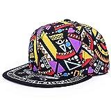 DAMENGXIANG Hight Qualität Unisex Baseball Caps Hip Hop Kappe Snapback Hut Flachkrempe HutVerstellbare Flat Hat Visor Stil 3