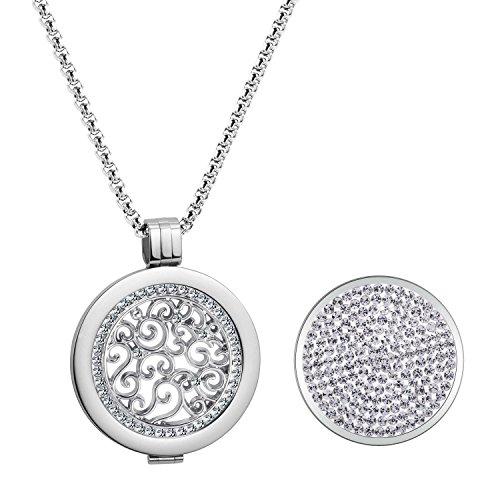 SISSI Schmuck Coins 33mm Kette Damen Anhänger Edelstahl DIY Modeschmuck Set