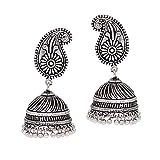Jaipur Mart Oxidised Silver Plated Jhumk...