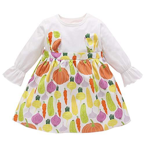 Kostüm Opa Onkel Halloween - Allence Neugeborenes Kind Baby Mädchen Spitze Strampler Langarm Tops Bogen Prinzessin Party Rock Kleid Outfit Set