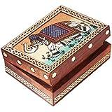 Jewellery Box / Trinket Box / Storage Box Out Of Gemstones And Shisham Wood Elephant Design By Handicrafts Paradise