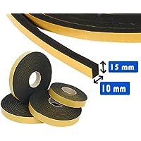Guidetti Service - Junta adhesiva negra de 10mm, rollo de 10metros, de neopreno