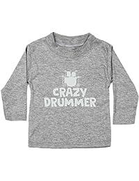 0da466d2d HippoWarehouse Crazy Drummer Camiseta Unisex bebé Manga Larga