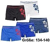 5er Set Jungen Boxershort mit coolem Drachen-Motiv in 5 Farben, Gr. 134-140
