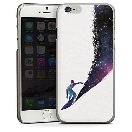 Apple iPhone 5s Housse Étui Protection Coque Surfeur Univers Vague CasDur anthracite clair