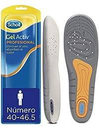Scholl Plantillas Gel Activ Profesional Hombre para Calzado Trabajo, Absorción de Impactos y Amortiguación, Talla 40-46.5, 1 par (2 plantillas)