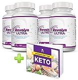 Revolyn Ultra - Schlankheitspille für effizienten Gewichtsverlust | Jetzt das 4-Flaschen-Paket mit Rabatt kaufen | (4 Flaschen) | Gratis dazu unser 7-Tage-Keto-Kochbuch