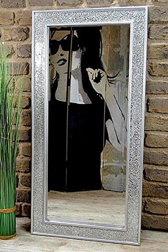 Livitat® Wandspiegel 100 x 50 cm Spiegel Mosaik Badspiegel mit Glasmosaik Crackle