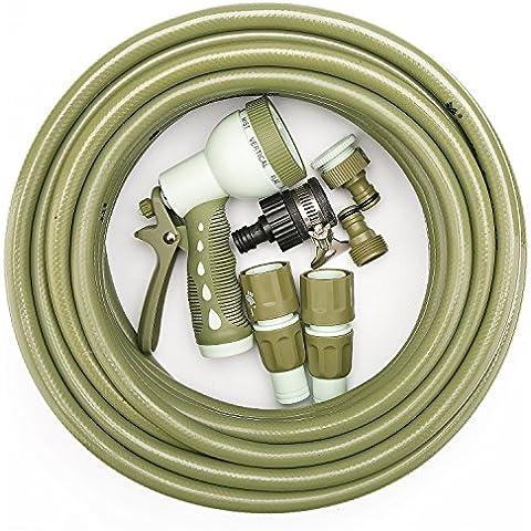 WORTH giardinaggio tubo Set con 15M (15,2m). 1/2tubo, 8spruzzo e