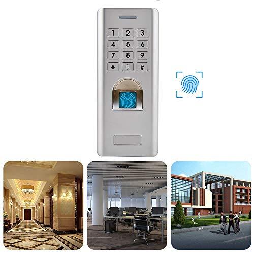 Diyeeni Fingerabdruck Zutrittskontrollsystem, Elektronisch Türöffner Access Control mit Keypad, IP66 Wasserdicht, Wiegand 26 Digit Output, Unterstützt 1000 Fingerabdrücke + 2000 PIN, für Innen Außen