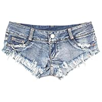NW Women's Low Waist Sexy Denim Short Hot Pants Sexy Mini Jeans Shorts (Small)