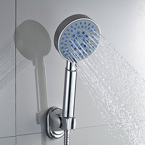 Auralum – Einhandmischer Duscharmatur mit Brausekopf und Brausehalterung, Chrom - 2
