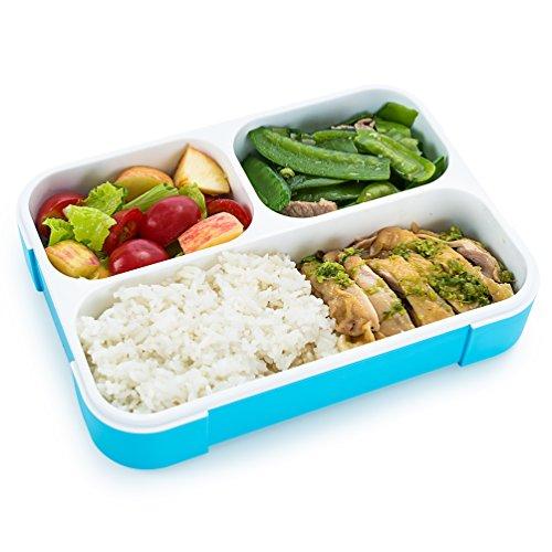 FITPREP Original Lunchbox I Meal Prep I Bento Box I 3 Fächer I Auslaufsicher - Jede Kammer untereinander I Spülmaschinengeeignet (Ohne Deckel) BPA Frei I Brotdose Kinder Frischhaltedose - 4