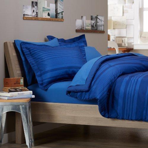 Pinzon Badteppich Bett in einer Tasche, Royal Blau Calvin Streifen, Polyester, Royal Blue Calvin Stripe, Twin XL