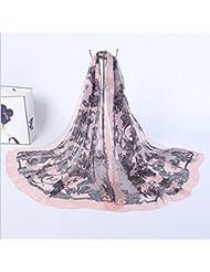 ZLL Bufanda de la manera, chaqueta estampado de encaje flor chal , 4