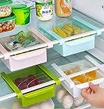 Bluelover Plastic Küche Kühlschrank Kühlschrank Gefrierschrank Storage Rack Shelf Halter Küchenorganisation Weiß