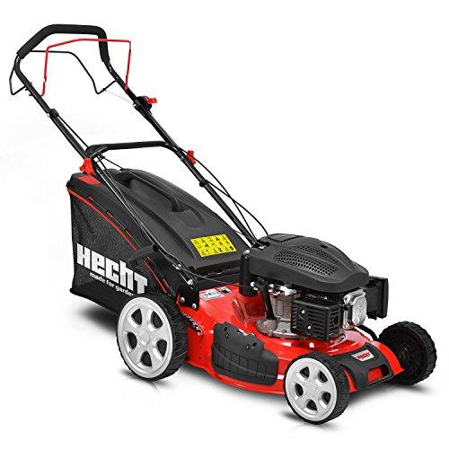 HECHT Benzin-Rasenmäher 547 SXW Rasenmäher (3,3 kW (4,5 PS), Schnittbreite 46 cm, 55 Liter Fangkorbvolumen, 5-fache Schnitthöhenverstellung 25-65 mm)