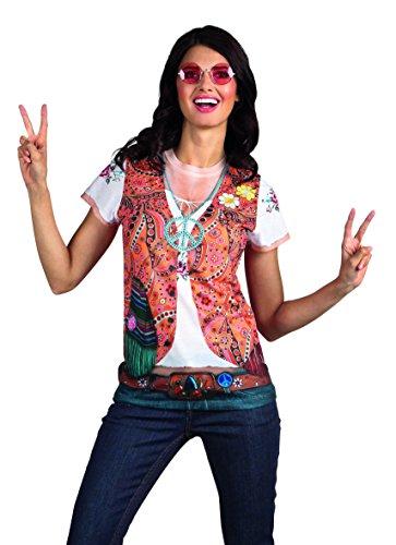 Boland 84220 - Fotorealistisches Shirt Hippie, Kostüme für Erwachsene