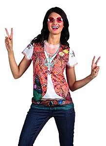 Boland 84220 - fotorrealistas Disfraces Shirt Hippie para adultos