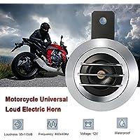 KKmoon 12V 1.5A 105dB Altavoz Bocina Eléctrica Impermeable Universal de Moto