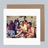 Beach Snacks 1960's–Vintage Retro Fashion Funny Grußkarte von Honovi Cards