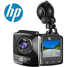 "HP Dashcam Cámara de Coche Full HD 1080p Cámara para Coche Videocámara DVR G-Sensor, Ciclo de Grabación, Visión Nocturna, 2.4 ""LCD gran ángulo coche Dashboard Camera Grabadora"