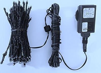 LED Lichterkette- 10,6m lang, 100 bunte Dioden, Leiterbahn aus Kupfer CE LED IP44, Wasserdicht, 8 Programme + Steuerbox. Für Party, Weihnachtsbaum, Nutzung innen & draußen von elfnick bei Lampenhans.de