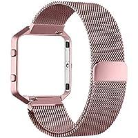 MALIYA Fitbit Blaze Armbänder, Milanese Edelstahl Replacement Wrist Band Strap Watchband Uhrband Uhrenarmband mit Magnet-Verschluss und Metallschließe Bänder für Fitbit Blaze Smart Watch
