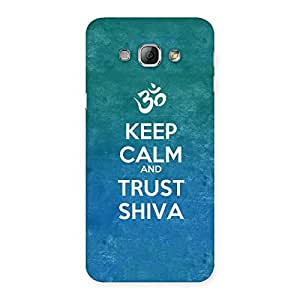 Delighted Trust Shiva Back Case Cover for Galaxy A8